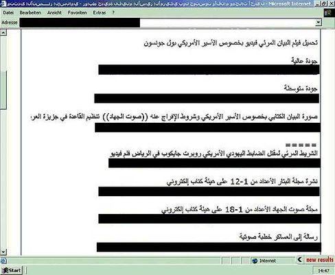 Angepriesene Links in einem islamistischen Internetforum: Privatseite eigens gehack