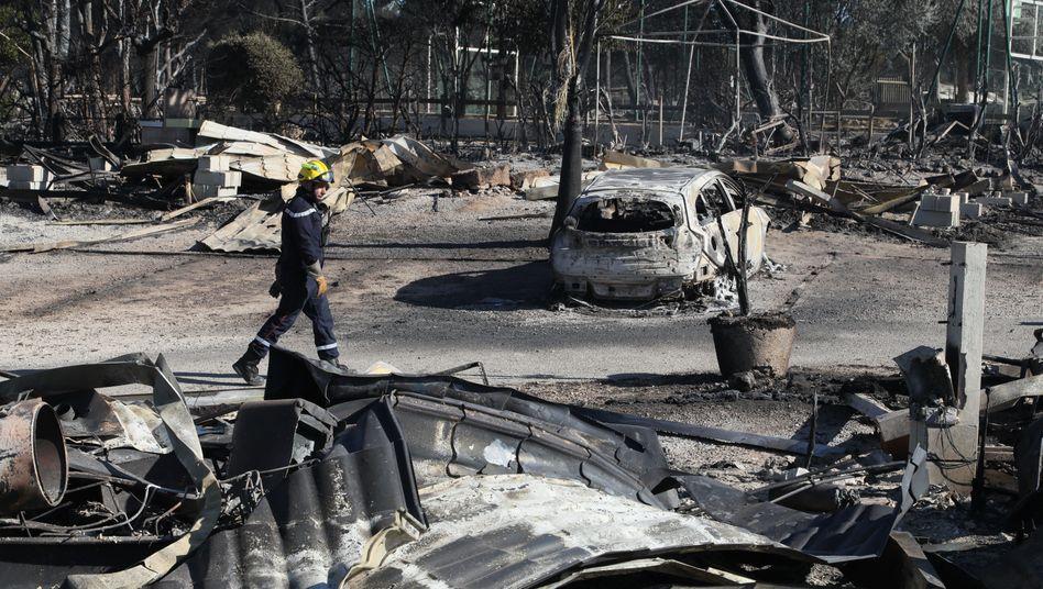 Abgebrannter Campingplatz nahe Martigues in Südfrankreich: 1000 Hektar Land zerstört