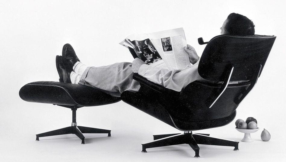 Lounge Chair mit Schöpfer Charles Eames 1956: Was funktioniert, funktioniert