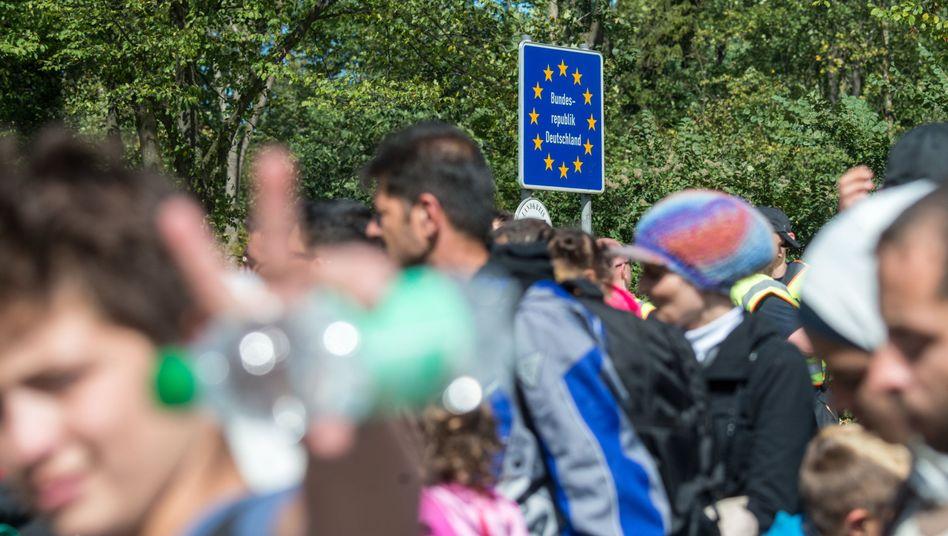 Flüchtlinge an der deutsch-österreichischen Grenze, 2015