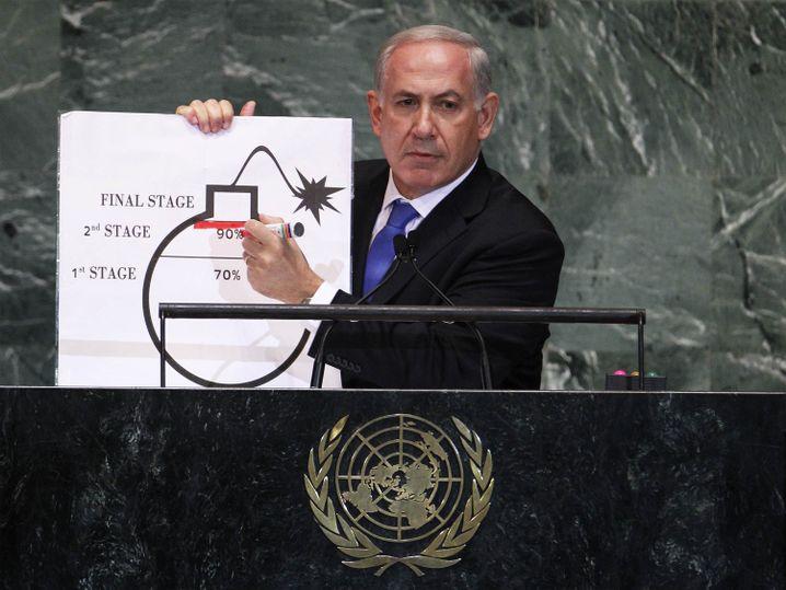 Netanyahu vor der Uno (2012): Bemerkenswerter Auftritt
