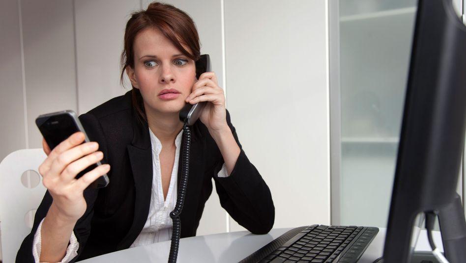 Stress im Büro (Symbolbild): Psychisch bedingte Ausfalltage stark gesteigen