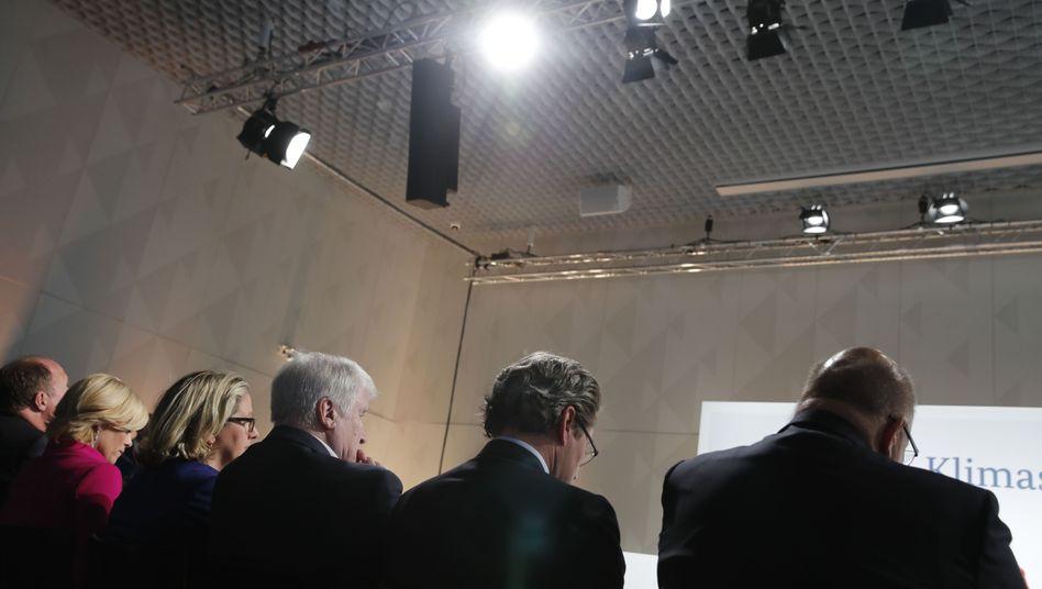 Bundesminister bei Vorstellung des Klimaschutzprogrammes am vergangenen Freitag