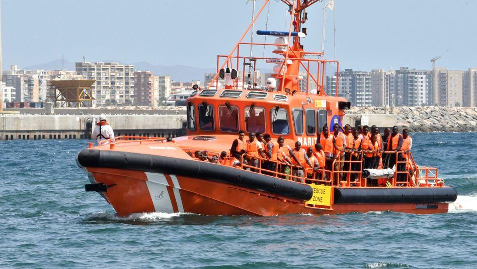 Migranten vor Spanien