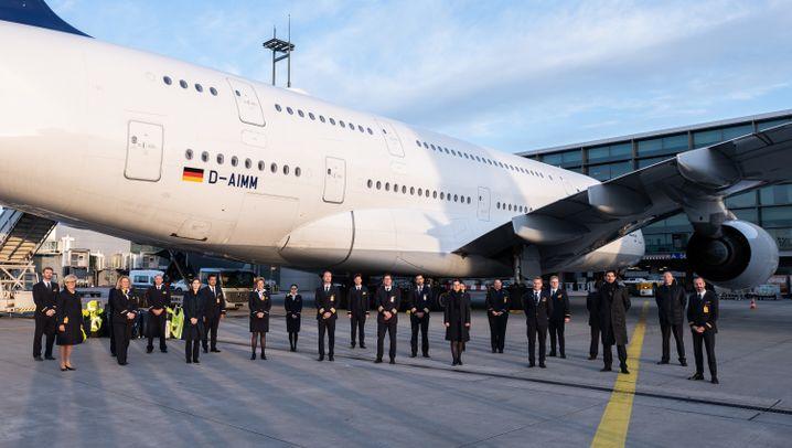 Parking Position für die A380-Flotte der Lufthansa