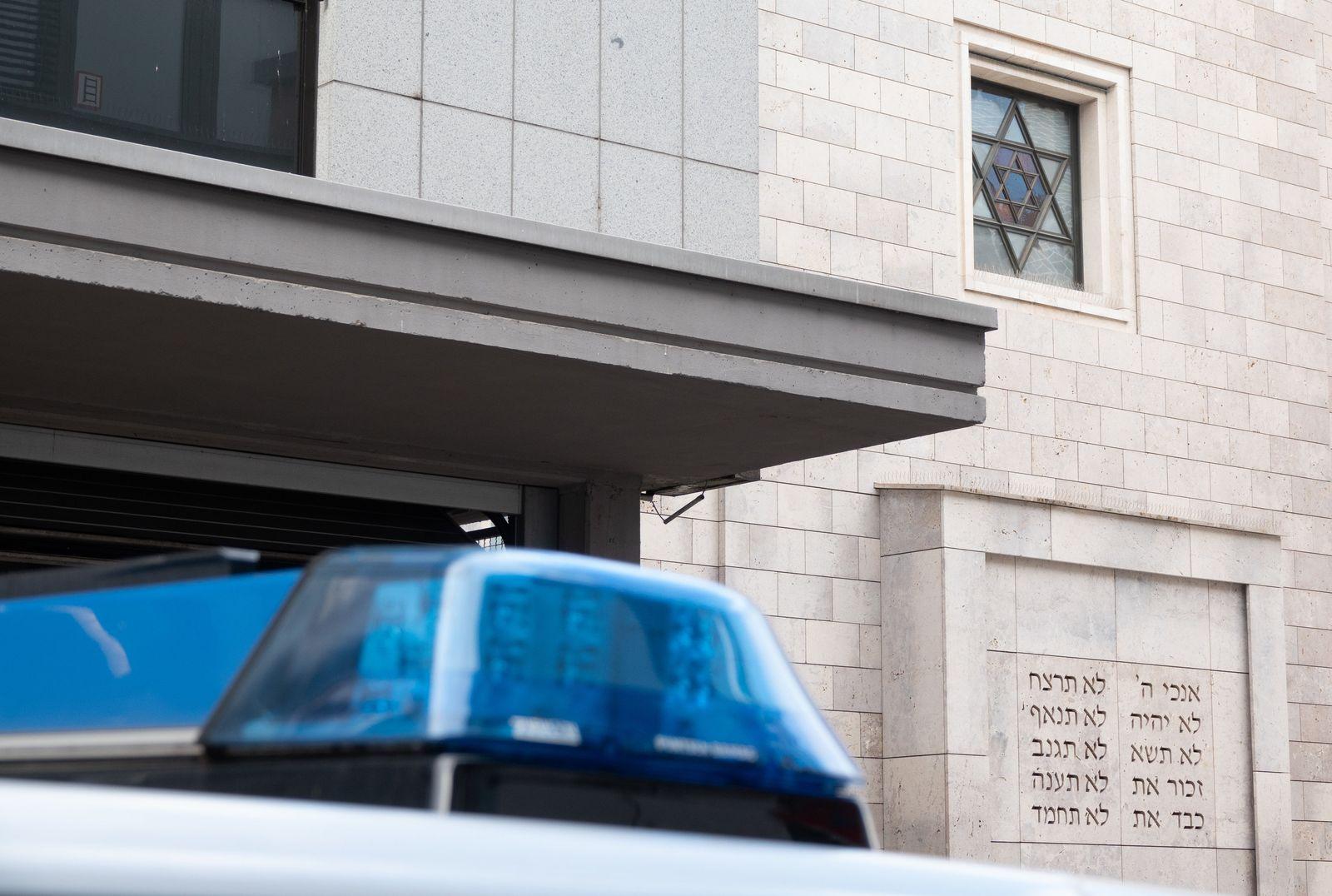 Polizeischutz für jüdische Einrichtungen/ Synagoge