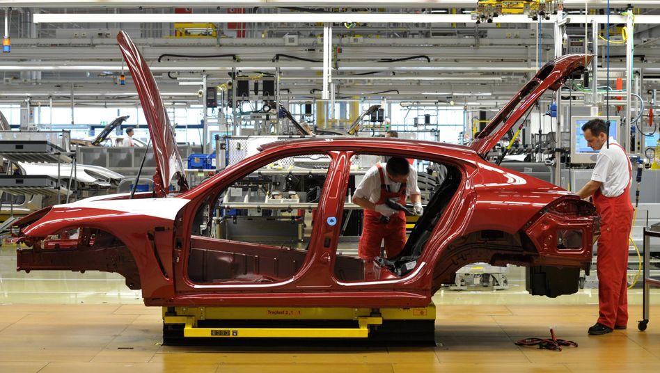 Porsche-Produktion in Leipzig: Krise am deutschen Automarkt
