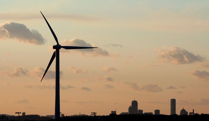 """Windrad in der Nähe von Boston: Obama verkündet """"Energiewende"""""""