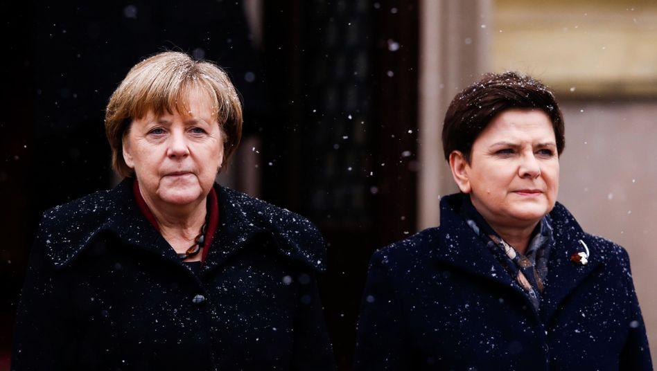 Angela Merkel und die polnische Premierministerin Beata Szydlo in Warschau, 7. Februar 2017