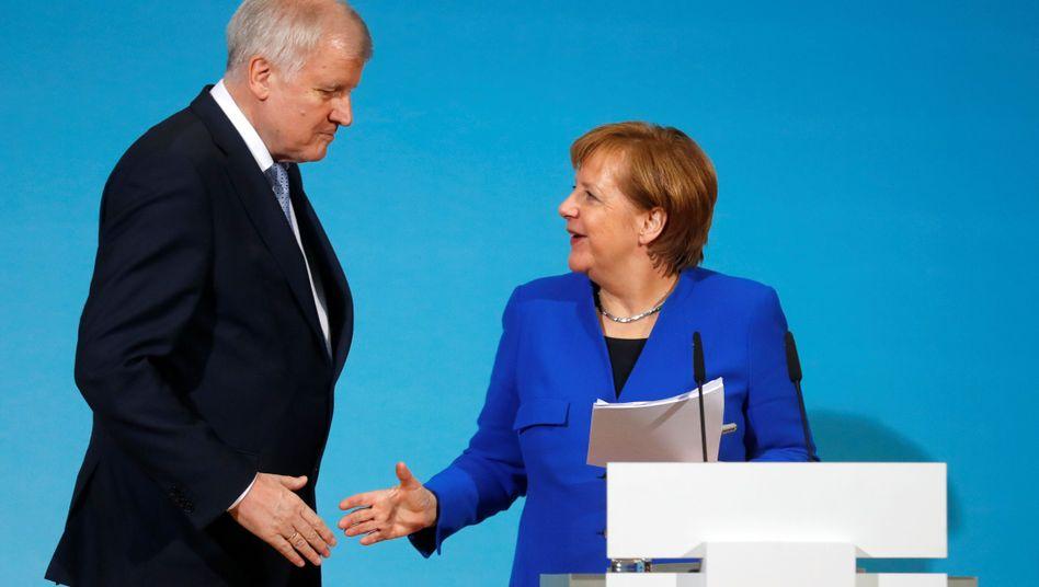Unions-Politiker Merkel, Seehofer