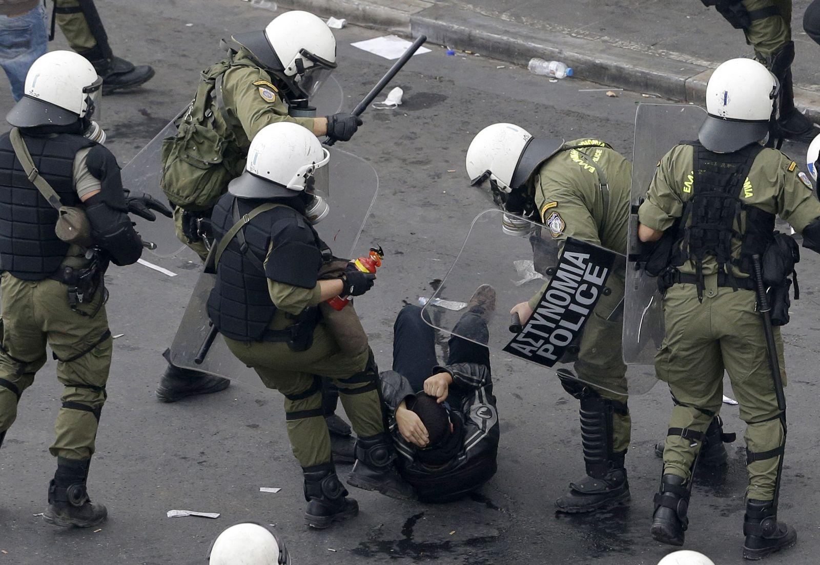 griechische polizei ausschreitungen