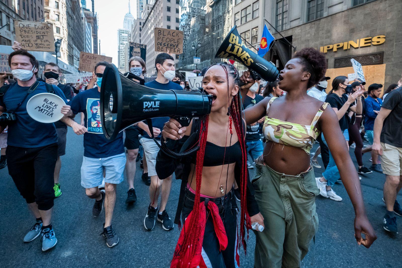 News - George Floyd Protest Donald Trump Birthday Protest - New York City