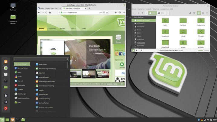Starten Sie das Linux-Mint-Live-System vom USB-Stick, um das System und seine Anwendungen auszuprobieren.