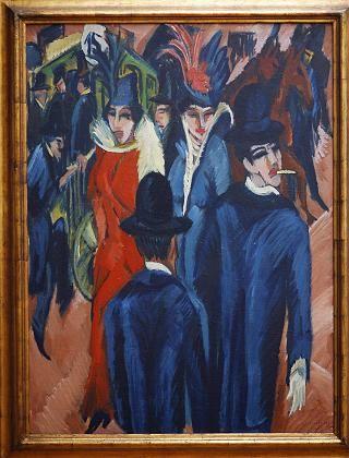 "Ludwig Kirchner's ""Berlin Street Scene."""