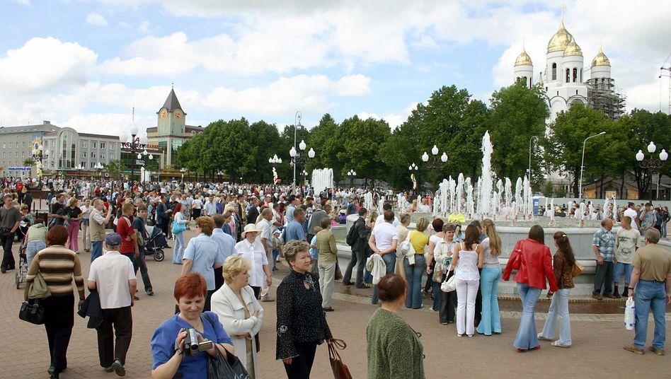 Neugestaltetes Stadtzentrum von Kaliningrad: Fernschreiben aus Moskau im Juli 1990
