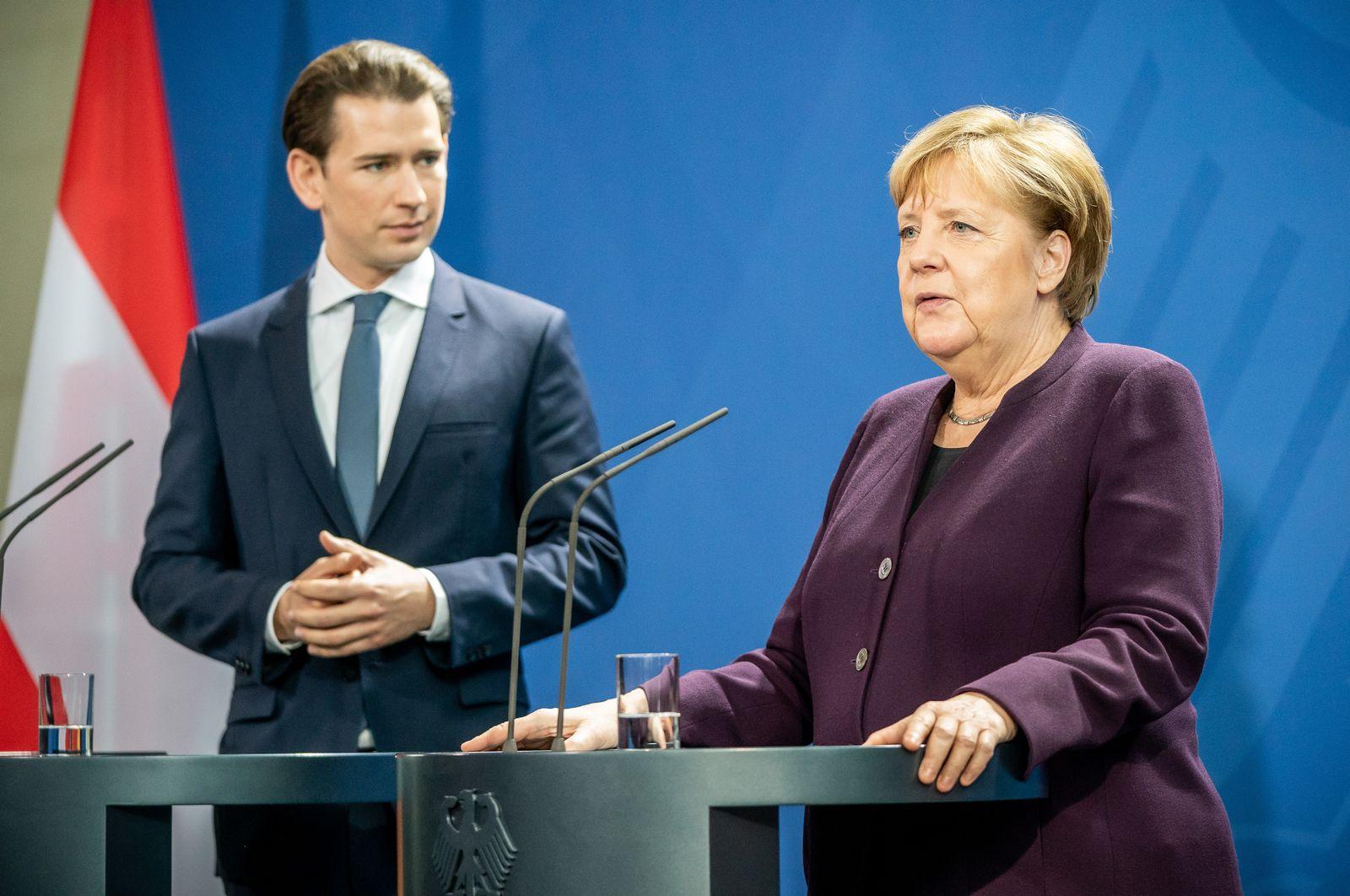 Österreichs Bundeskanzler Kurz bei Merkel