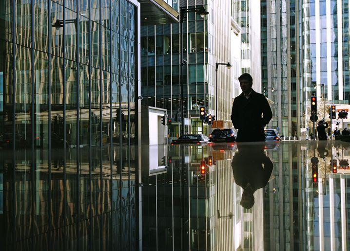 Bankenviertel Canary Wharf: Bilanzsummen fünf Mal so groß wie das Bruttoinlandsprodukt