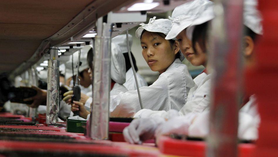 Chinesische Elektronik-Fabrik (Archivbild): Vorwürfe gegen Samsung-Zulieferer