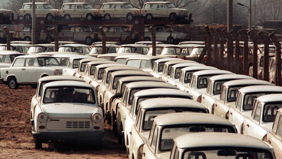 The Trabant was a favorite butt of jokes in communist East Germany.
