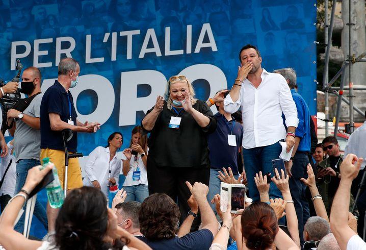 Il populista di destra Salvini (immagine d'archivio):