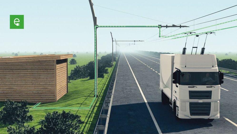 Oberleitungs-Lkw: Energie von oben