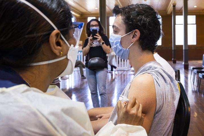 Impfzentrum in Melbourne (Symbolbild)