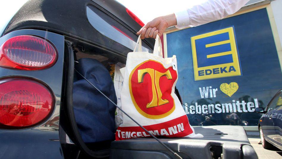 Logos von Tengelmann und Edeka