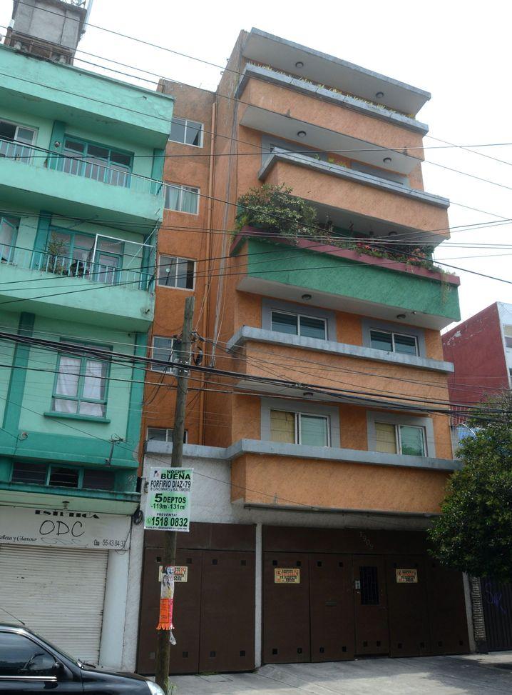 Tatort: Ein Häuserblock in einem gehobenen Viertel von Mexiko-Stadt