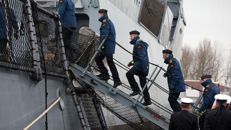 Marinesoldaten in Rostock
