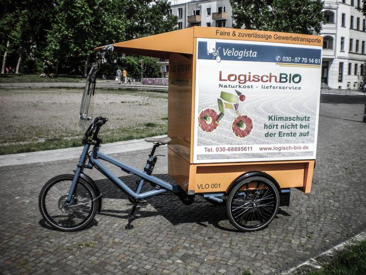 Bis zu 250 Kilogramm Zuladung: Ein Velogista-Transportfahrzeug