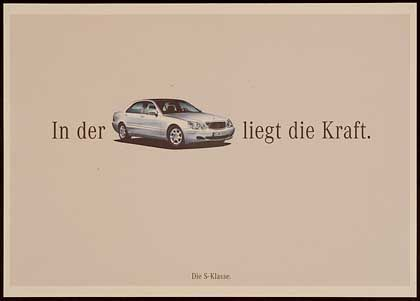 """Gewinner bei den Anzeigen in Tageszeitungen: Der Beileger """"La Dolce Vita"""" für Mercedes-Benz, der hier für die S-Klasse wirbt (von der Werbeagentur Springer & Jacoby)"""