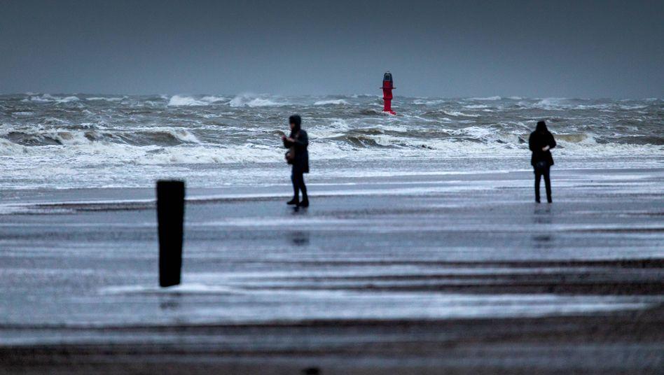 Stürmisches Wetter auf Norderney (am Dienstag vergangener Woche): Böen mit Tempo 118