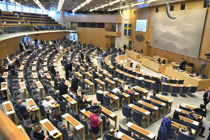Das schwedische Parlament vor der Misstrauensabstimmung