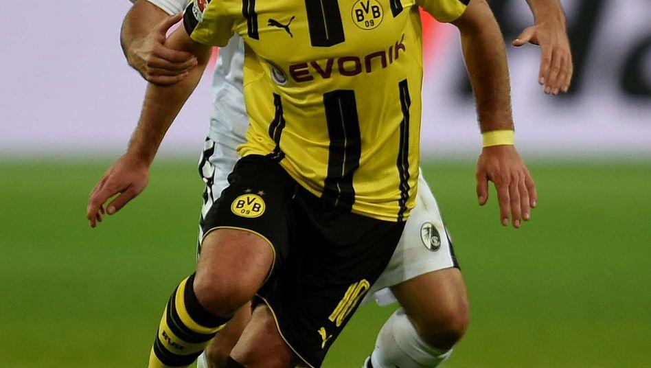 Mario Götze im Spiel gegen Freiburg