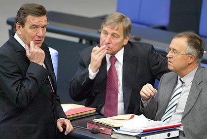 Schröder, Clement und Eichel (November 2004): Verstimmung im Kanzleramt
