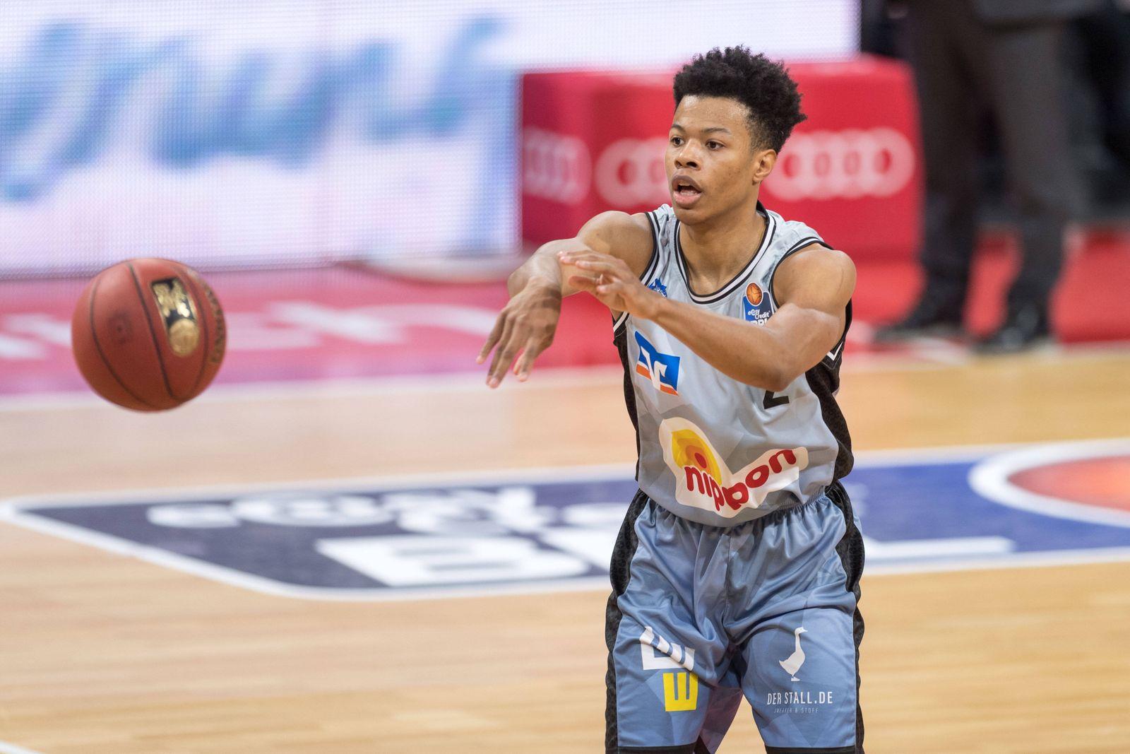 Basketball, BBL, 20210131, FC Bayern München - Merlins Crailsheim Im Bild Trae BELL-HAYNES (Merlins Crailsheim, 2). Mün