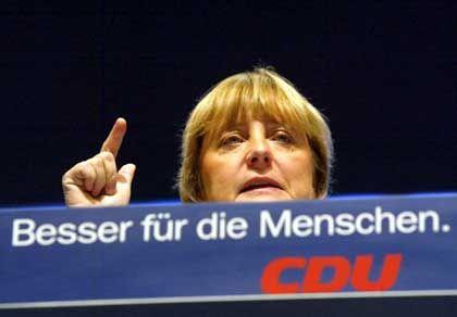 Nach dem Wahlkampf ist vor dem Wahlkampf: CDU-Parteichefin Angela Merkel beim CDU-Parteitag in Hannover