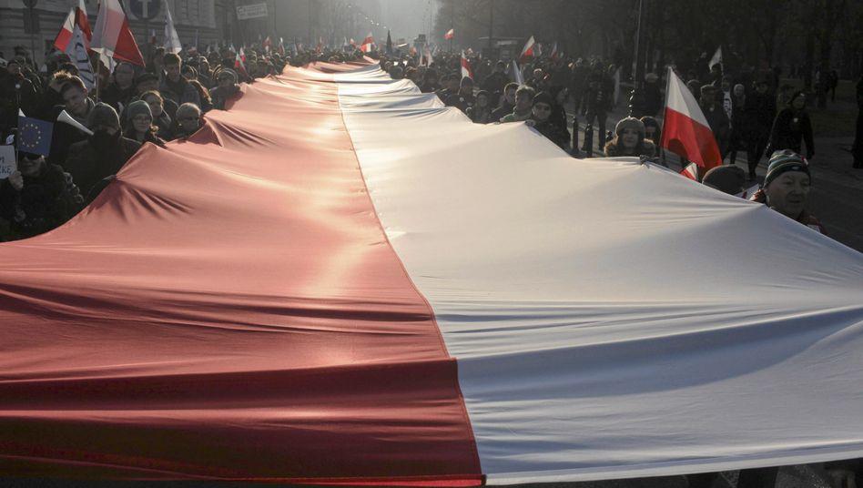 Demonstration in Warschau