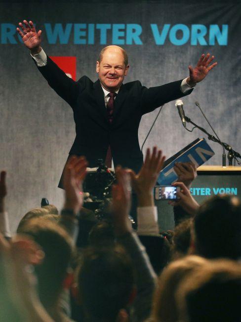 Scholz kann Wahlen gewinnen: Hier im Februar 2015 in Hamburg