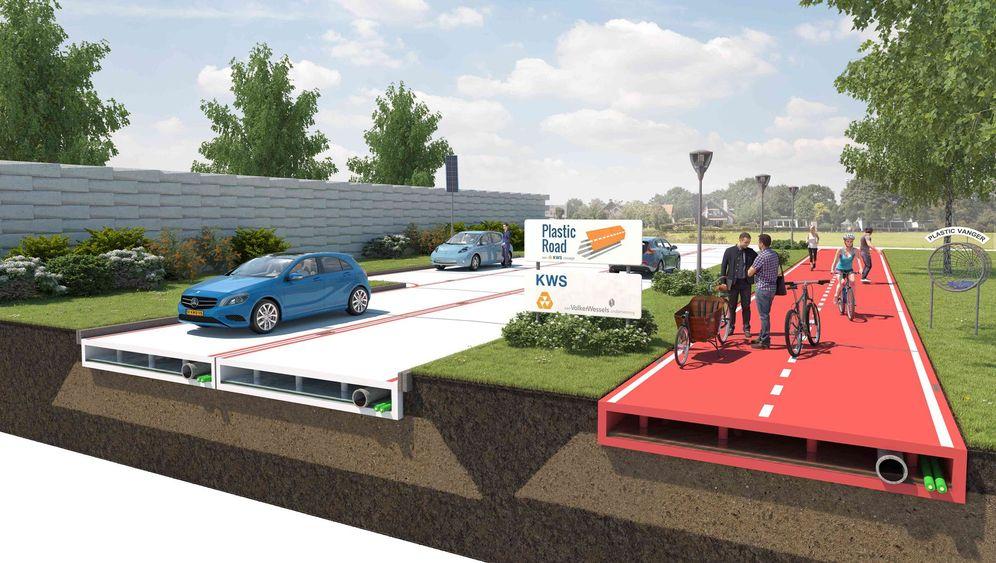 Straßen aus Kunststoff: Abfall statt Asphalt