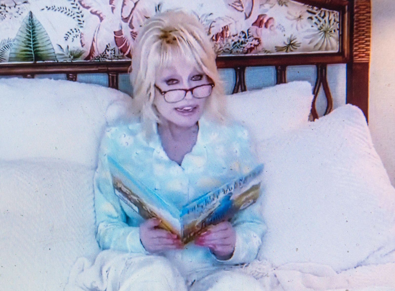 April 2, 2020: DOLLY PARTON, 74, helps get your kids to sleep with Goodnight with Dolly tonite reading The Little Engine