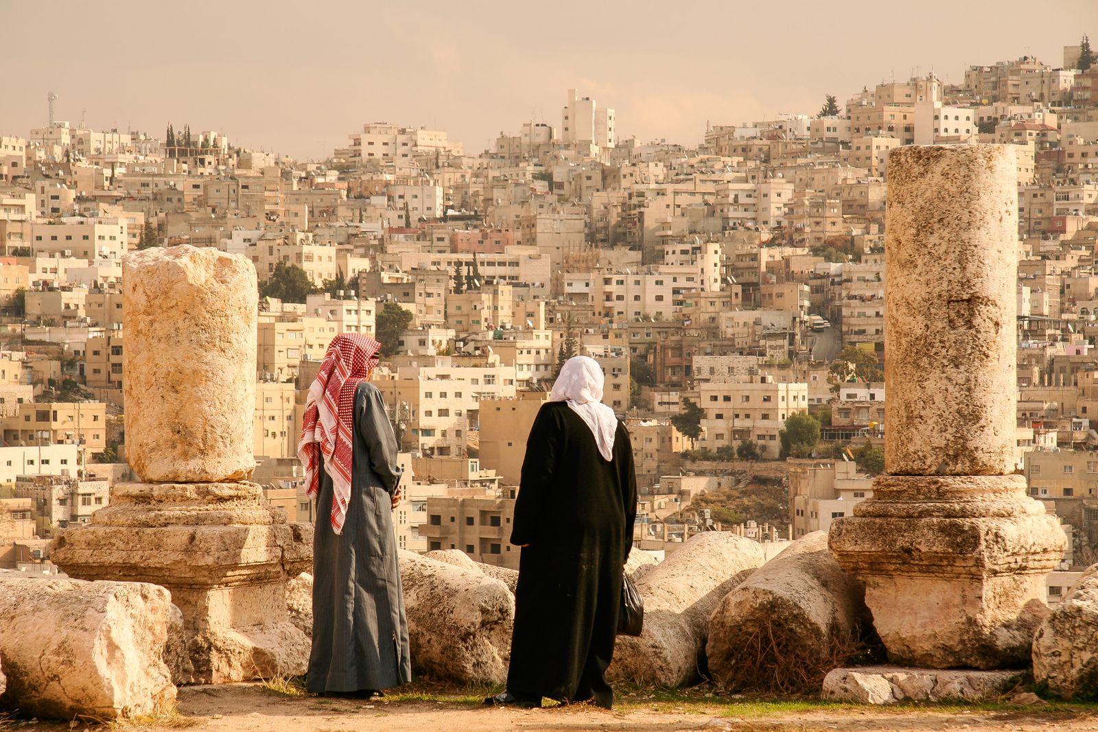 Jordanians Look out over Amman