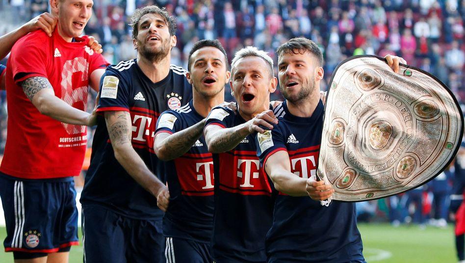 Jubelnde Bayern-Profis