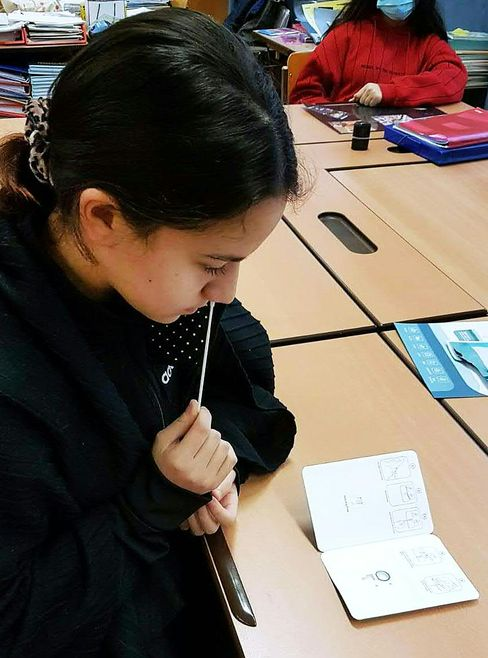 Schülerin in Österreich: Selbsttest vor dem Unterricht