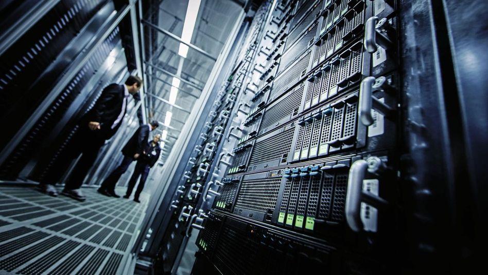 Server der Telekom-Tochter T-Systems in Bördeland, Sachsen-Anhalt