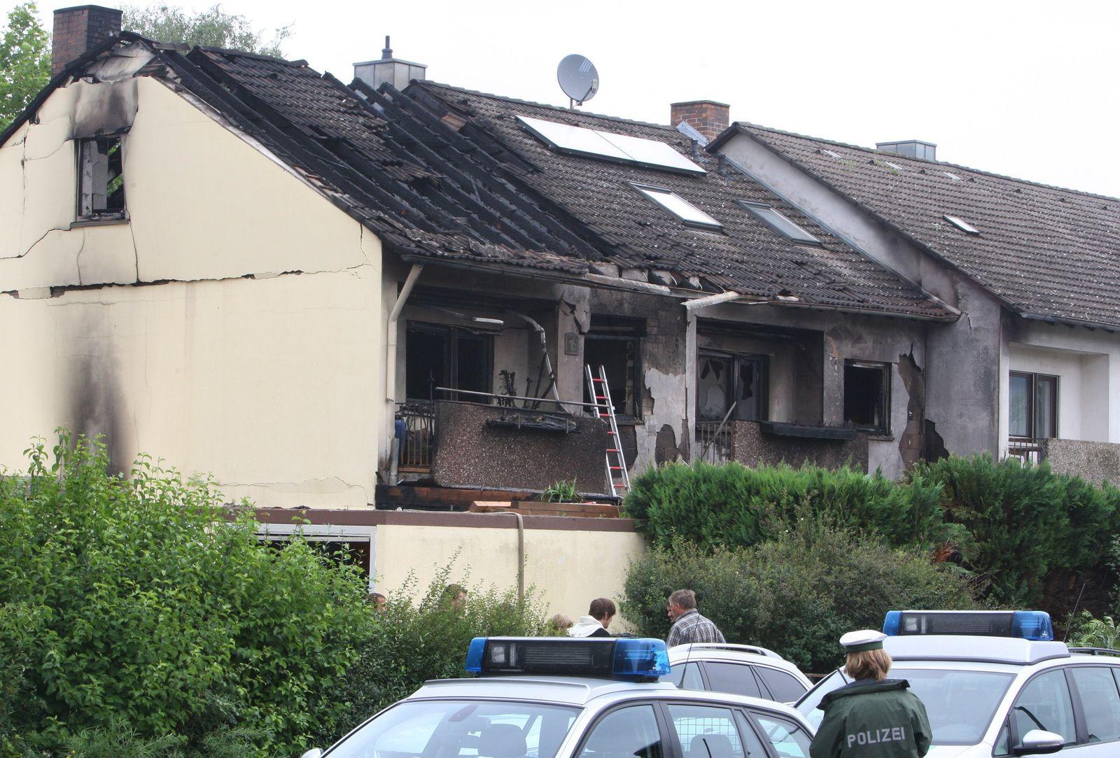 Zwei Reihenhäuser abgebrannt Winterhausen