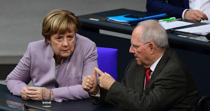 Angela Merkel, Wolfgang Schäuble (Archivfoto)