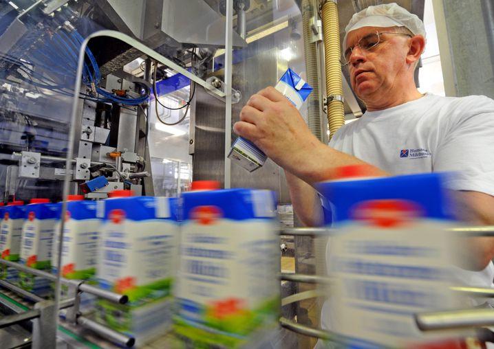 Abfüllung bei den Milchwerken Thüringen