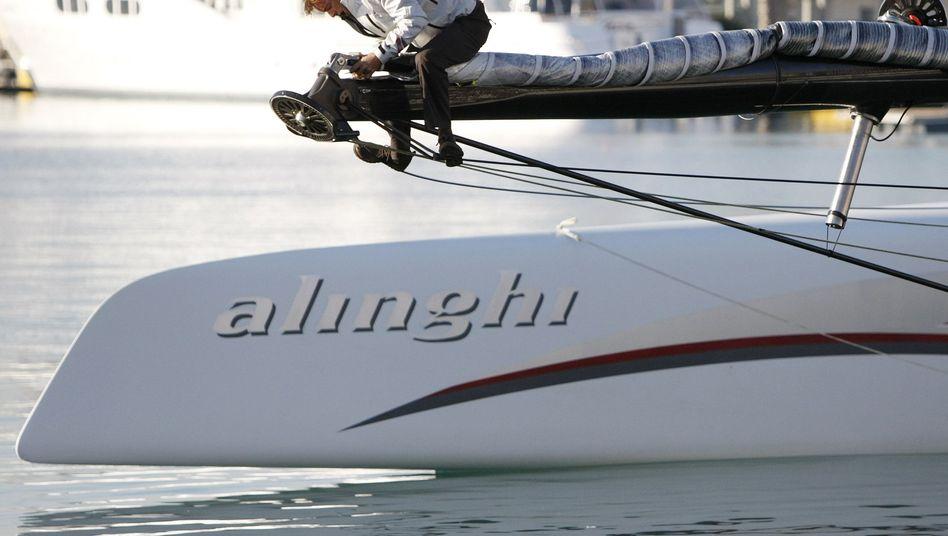 Alinghi-Crew beim America's Cup: Teilnahme abgesagt