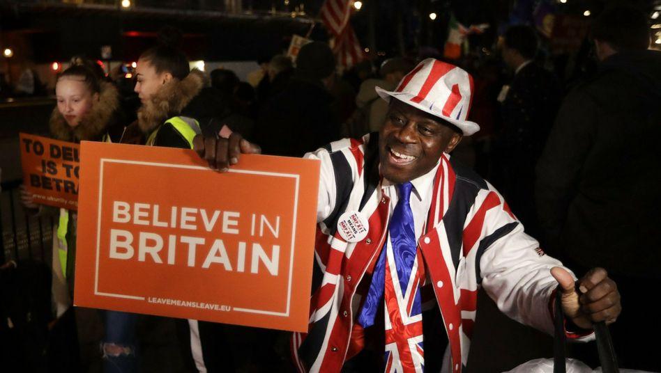 Brexit-Befürworter in London